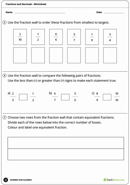 Equivalent Fractions Worksheet Pdf Fresh Equivalent Fractions Wall Worksheet Labelled Teaching