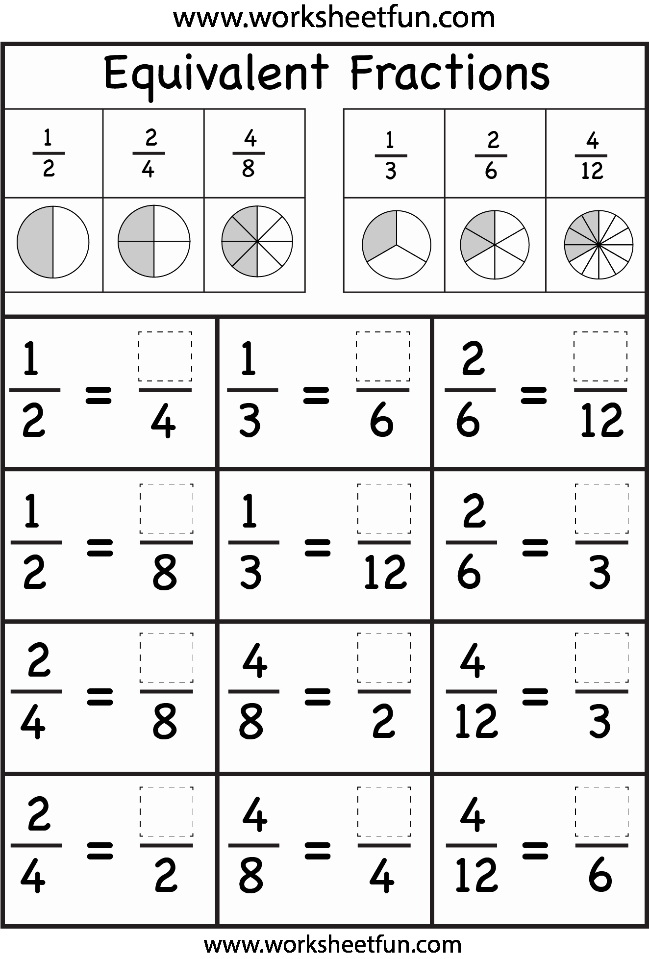 Equivalent Fractions Worksheet Pdf Fresh Equivalent Fractions Worksheet Free Printable Worksheets