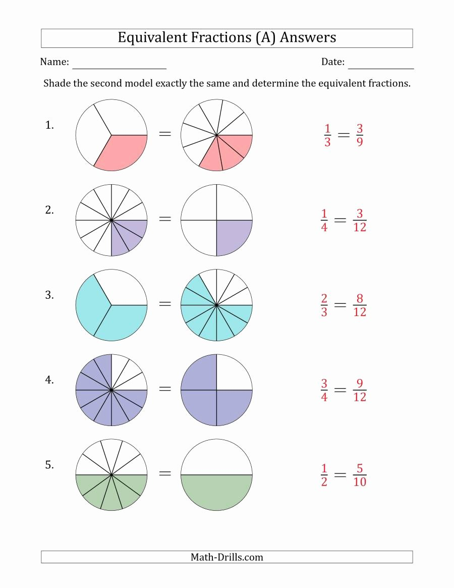 fractions equivalent visual models simplified both 001