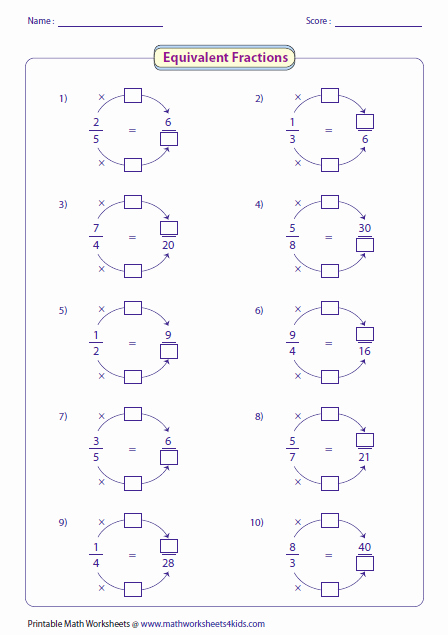 Equivalent Fractions Worksheet Pdf Luxury Learning Equivalent Fractions