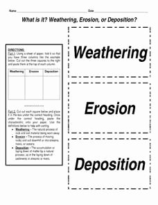 Erosion and Deposition Worksheet Beautiful What is It Weathering Erosion or Deposition Worksheet