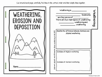 Erosion and Deposition Worksheet Fresh Weathering and Erosion Flip Book by Ad Williams