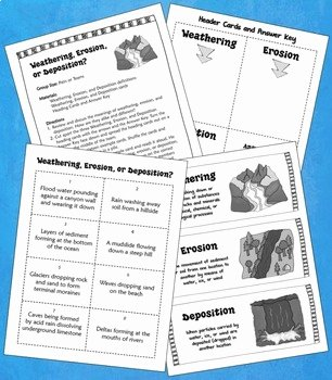 Erosion and Deposition Worksheet Inspirational Weathering and Erosion sorting Activity Free by Laura