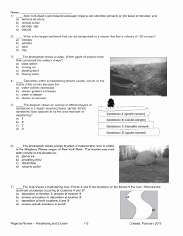 Erosion and Deposition Worksheet Unique Review Worksheet Erosion Weathering and Deposition