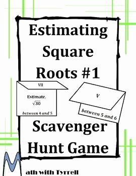 Estimating Square Root Worksheet Awesome Estimating Square Roots 1 Scavenger Hunt Game