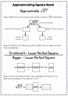 Estimating Square Root Worksheet Best Of Estimating Square Roots Interactive Notes and Worksheet