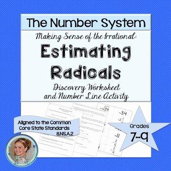 Estimating Square Root Worksheet Luxury Estimating Square Roots Discovery Worksheet and Number