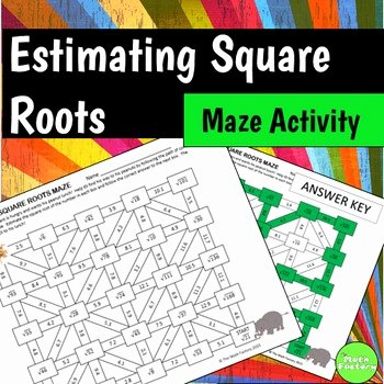 Estimating Square Root Worksheet Luxury Estimating Square Roots Maze Activity by the Math Factory