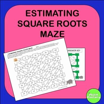 Estimating Square Root Worksheet Luxury Estimating Square Roots Maze Activity