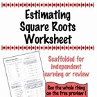 Estimating Square Root Worksheet New Estimating Square Root Scaffolded Worksheet with Answers
