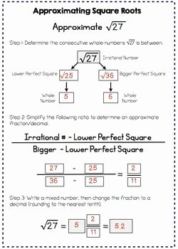 Estimating Square Roots Worksheet Beautiful Best 25 Square Roots Ideas On Pinterest