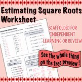 Estimating Square Roots Worksheet Beautiful Lisa Tarman Teaching Resources
