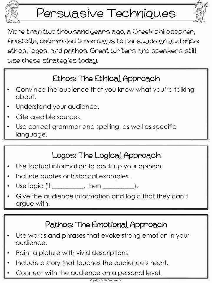 Ethos Pathos Logos Worksheet Beautiful Ethos Pathos Logos Worksheet