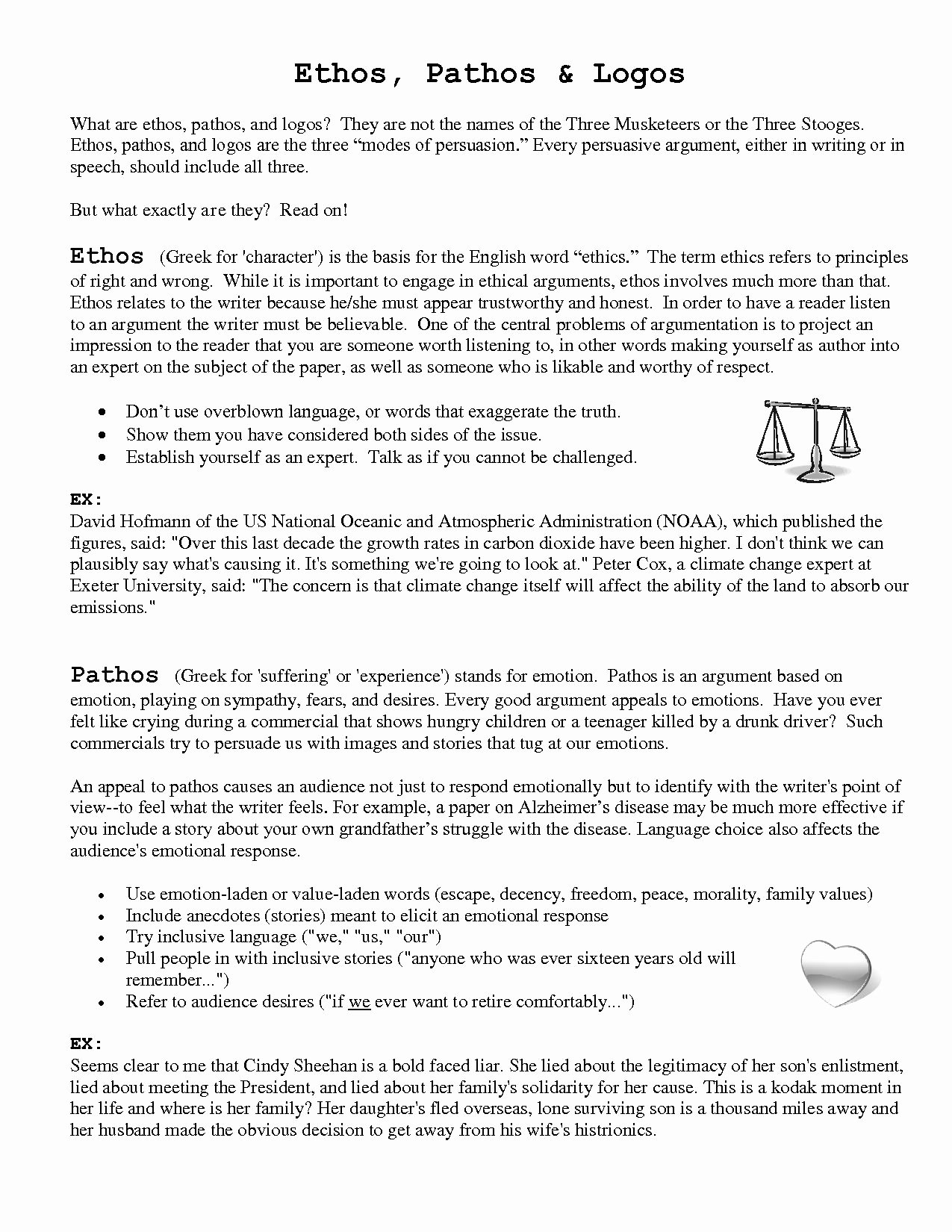 Ethos Pathos Logos Worksheet Fresh Persuasive Language Using Ethos Pathos and Logos Worksheet