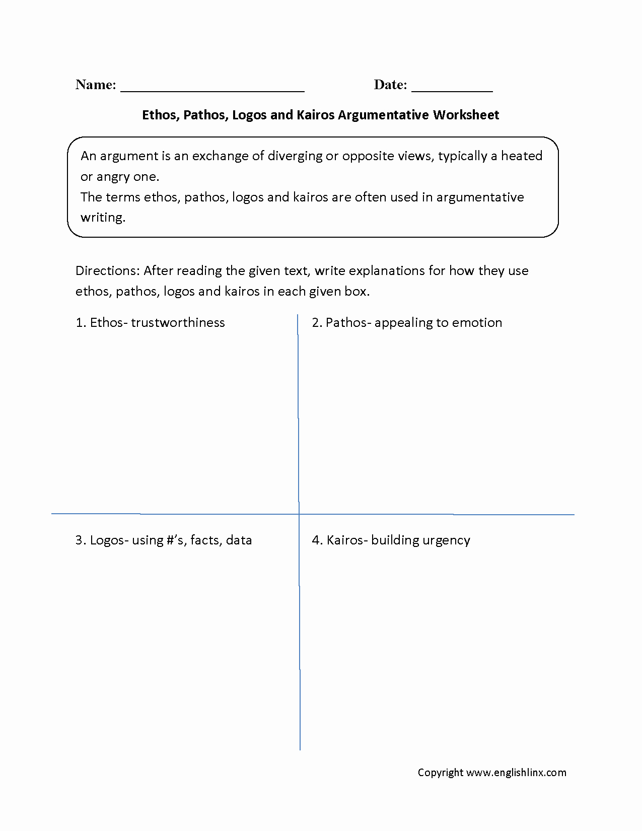 Ethos Pathos Logos Worksheet New Reading Worksheets