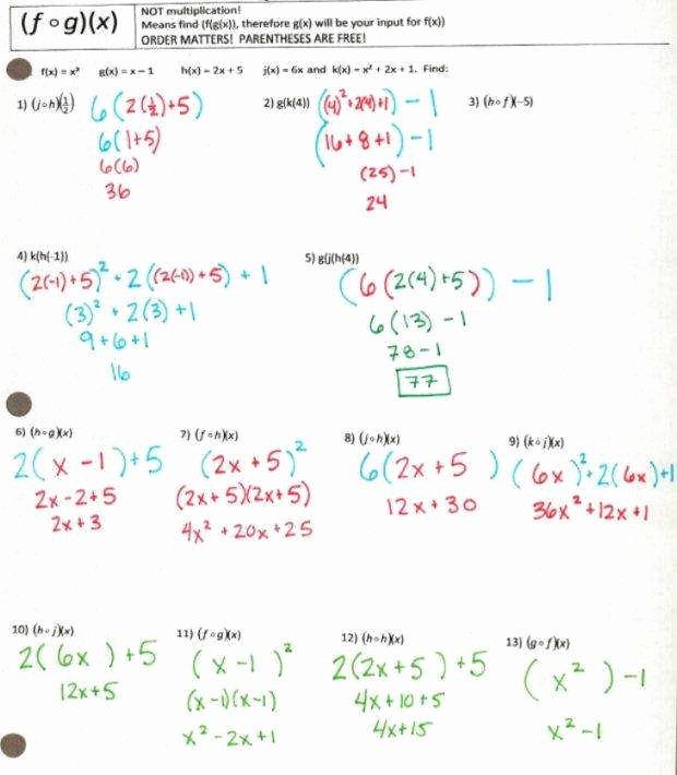 Evaluating Functions Worksheet Algebra 1 Lovely Evaluating Functions Worksheet
