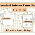 Evaluating Functions Worksheet Algebra 1 Lovely Step Function Greatest Integer Function Worksheet