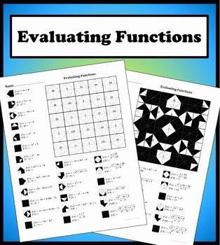 Evaluating Functions Worksheet Algebra 1 Luxury Evaluating Functions Color Worksheet by Aric Thomas