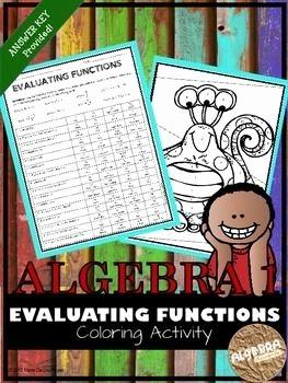 Evaluating Functions Worksheet Pdf Fresh Evaluating Functions Coloring Activity