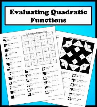 Evaluating Functions Worksheet Pdf Fresh Evaluating Quadratic Functions Color Worksheet by Aric