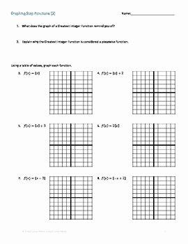 Evaluating Functions Worksheet Pdf Fresh Step Function Greatest Integer Function Worksheet