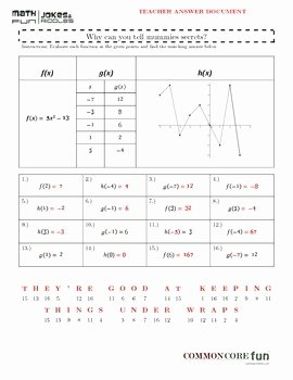 Evaluating Functions Worksheet Pdf Inspirational Evaluating Functions Equation Table and Graph