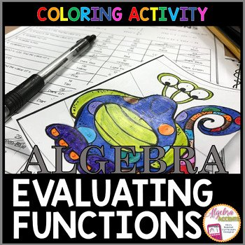 Evaluating Functions Worksheet Pdf Lovely Evaluating Functions Coloring Activity by Algebra Accents