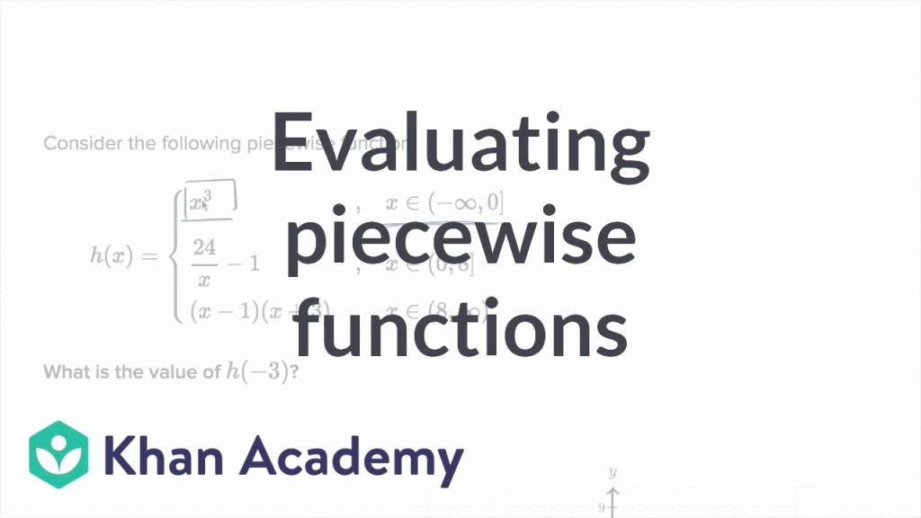 Evaluating Piecewise Functions Worksheet Awesome Cool Worked Example Evaluating Piecewise Functions Video