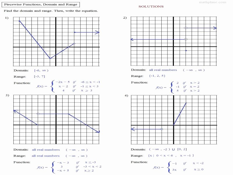 Evaluating Piecewise Functions Worksheet Beautiful Worksheet Piecewise Functions Algebra 2 Answers Free