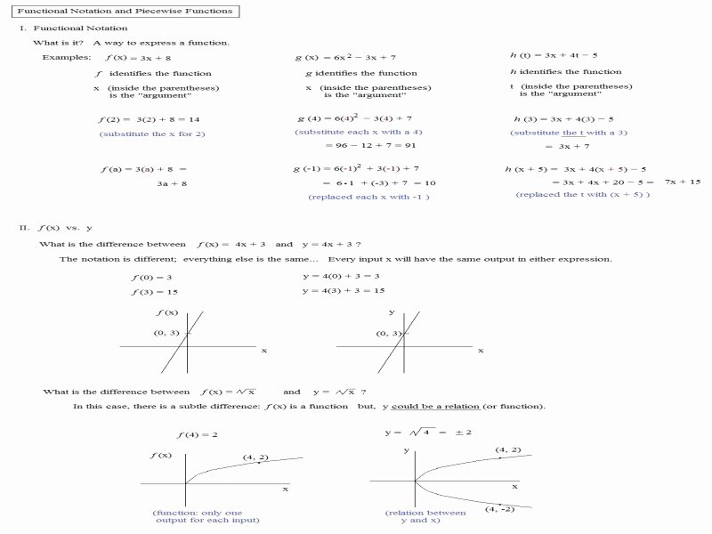Evaluating Piecewise Functions Worksheet Best Of Function Notation Worksheet Free Printable Worksheets