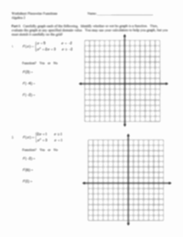 Evaluating Piecewise Functions Worksheet Inspirational Piecewise Worksheet and Answers Pdf Worksheet Piecewise