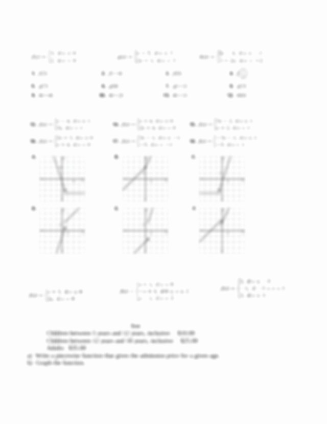 Evaluating Piecewise Functions Worksheet Lovely Ws Piecewise Functionsc Worksheet Piecewise Functions