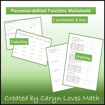 Evaluating Piecewise Functions Worksheet New Piece Wise Functions Evaluate & Graph 5 Practice