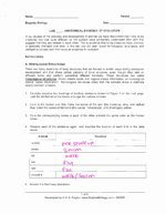 Evidence Of Evolution Worksheet Answers Elegant Anatomical Evidence Evolution Worksheet Answers