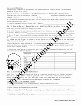 Evolution and Natural Selection Worksheet Elegant Evolution by Natural Selection Worksheet the Best