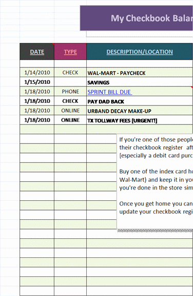 Excel Checkbook Register Budget Worksheet Beautiful Microsoft Excel Ledger Templates