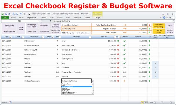 Excel Checkbook Register Budget Worksheet Best Of Excel Bud Spreadsheet and Checkbook Register software