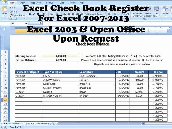 Excel Checkbook Register Budget Worksheet Best Of Excel Check Book Register Help with Balancing Checkbook