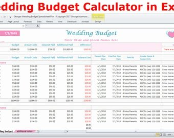 excel bud spreadsheet template and
