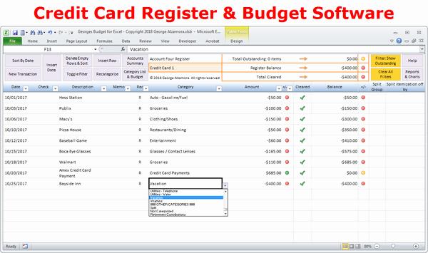 Excel Checkbook Register Budget Worksheet Fresh Excel Bud Spreadsheet and Checkbook Register software