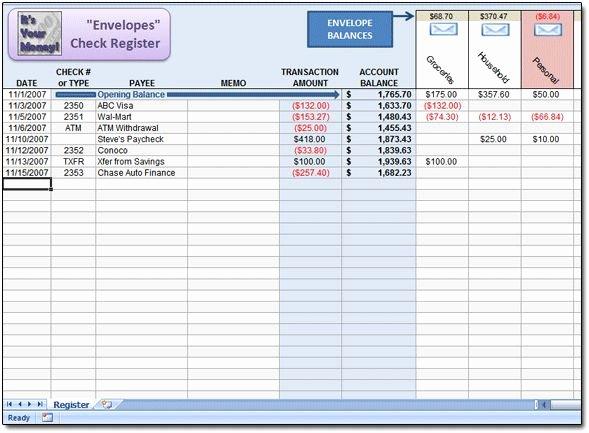 Excel Checkbook Register Budget Worksheet New 25 Best Ideas About Check Register On Pinterest