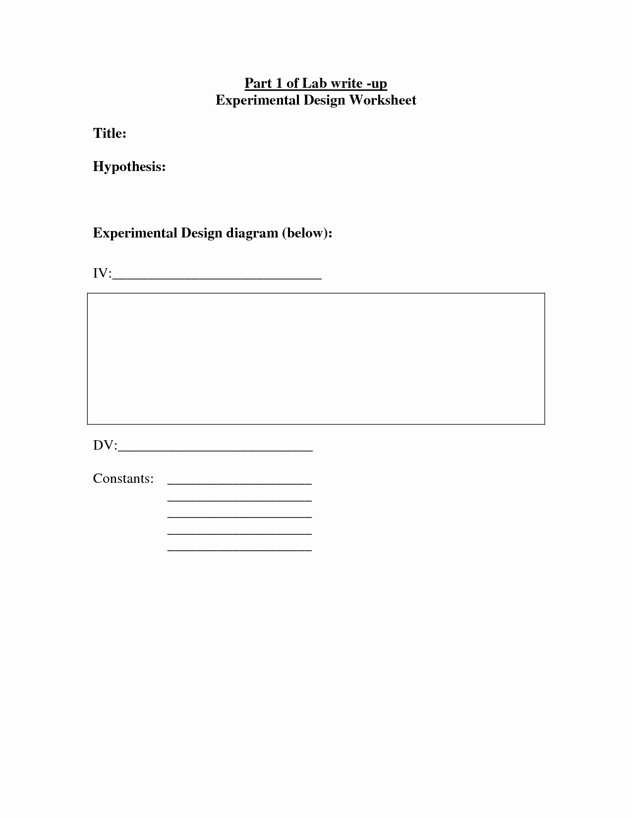 Experimental Design Worksheet Answers Beautiful 14 Best Of Experimental Design Worksheet Answer Key