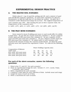 Experimental Design Worksheet Answers Inspirational Experimental Design Practice Worksheet for 7th 10th