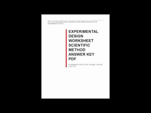 Experimental Design Worksheet Scientific Method Beautiful Experimental Design Worksheet