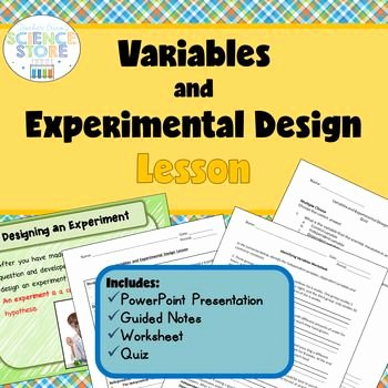 Experimental Design Worksheet Scientific Method Best Of Variables and Experimental Design Lesson
