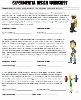 Experimental Variables Worksheet Answers Fresh Experimental Design Worksheet by Danis Marandis