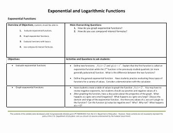 Exponential Function Word Problems Worksheet Awesome Exponential and Logarithmic Word Problems Worksheet