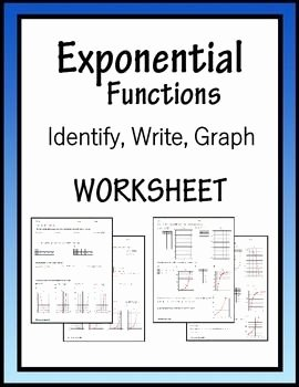 Exponential Function Word Problems Worksheet Awesome Exponential Functions Algebra Worksheet