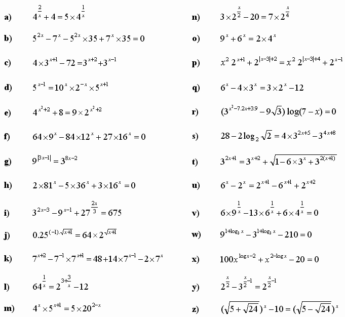 Exponential Function Word Problems Worksheet Elegant Math Exercises & Math Problems Exponential Equations and