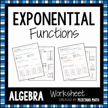 Exponential Function Word Problems Worksheet New Exponential Functions Algebra Worksheet